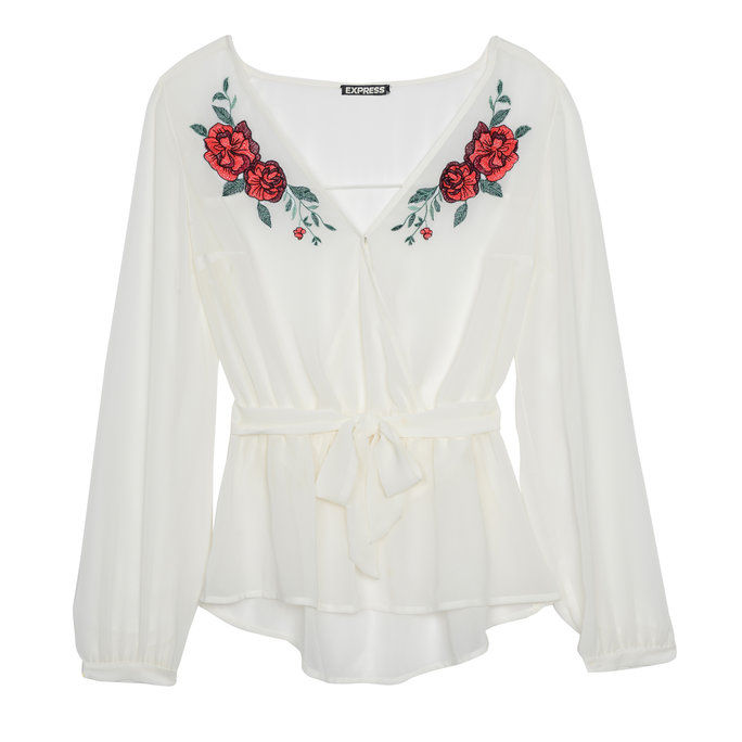 小柄な Embroidered Blouse