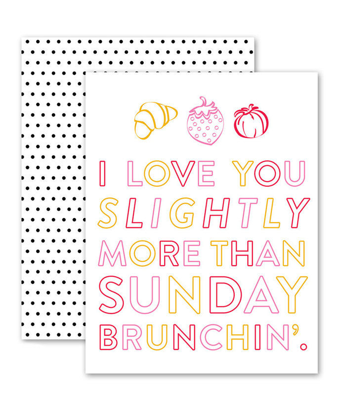 애정 You More Than Sunday Brunch Card