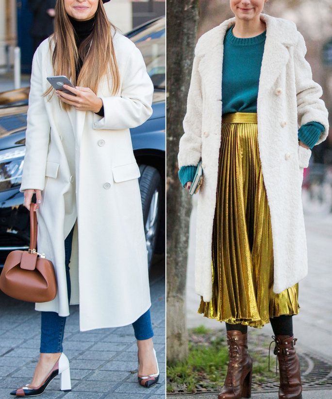 א White Coat, Styled Two Ways