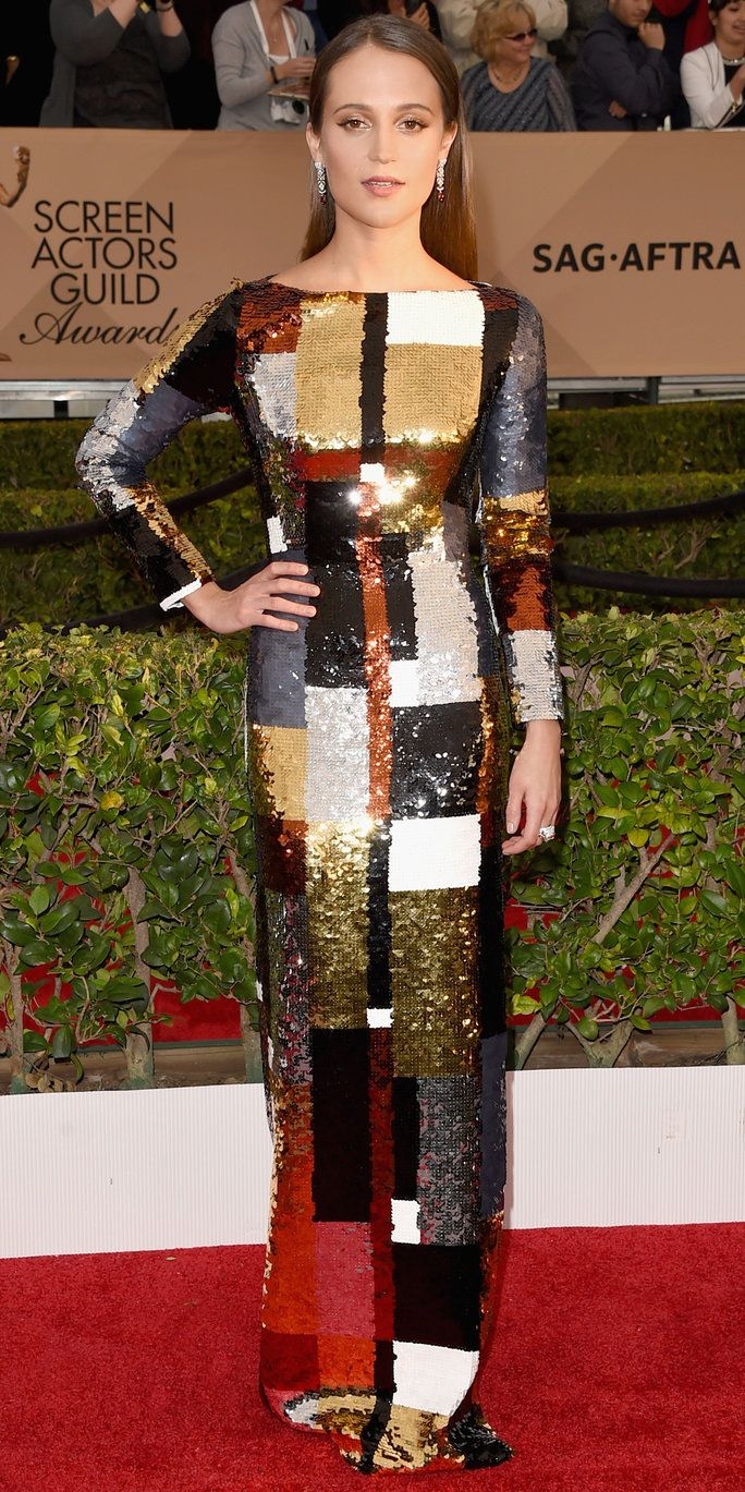 אלישיה Vikander - Screen Actors Guild Awards 2016