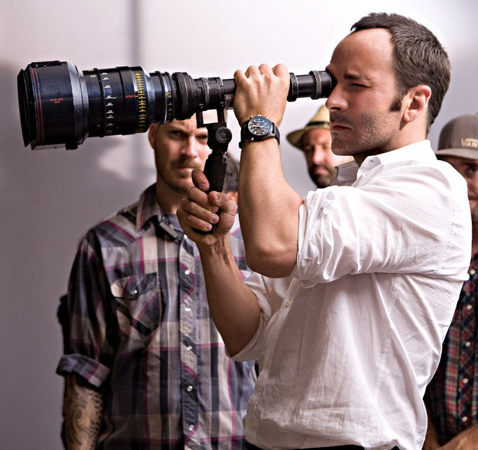 א SINGLE MAN, foreground: director Tom Ford, on set, 2009. ph: Eduard Grau/©Weinstein Company/Courtesy Everett Collection