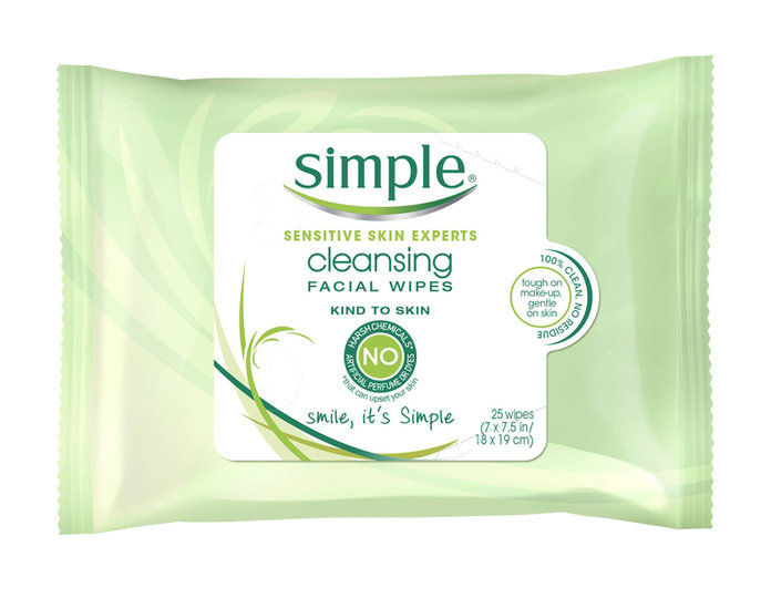 단순한 Cleansing Wipes