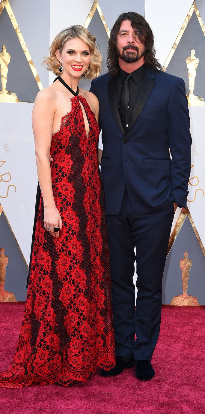 דייב Grohl and Jordyn Blum - Oscars 2016