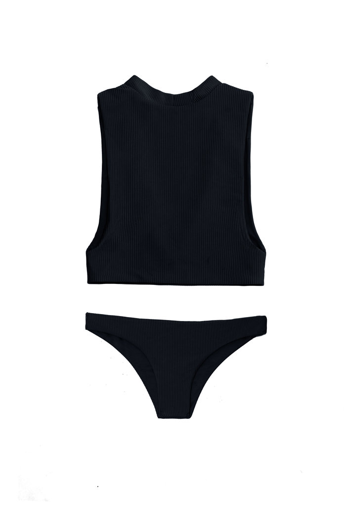 黒 high neck bikini