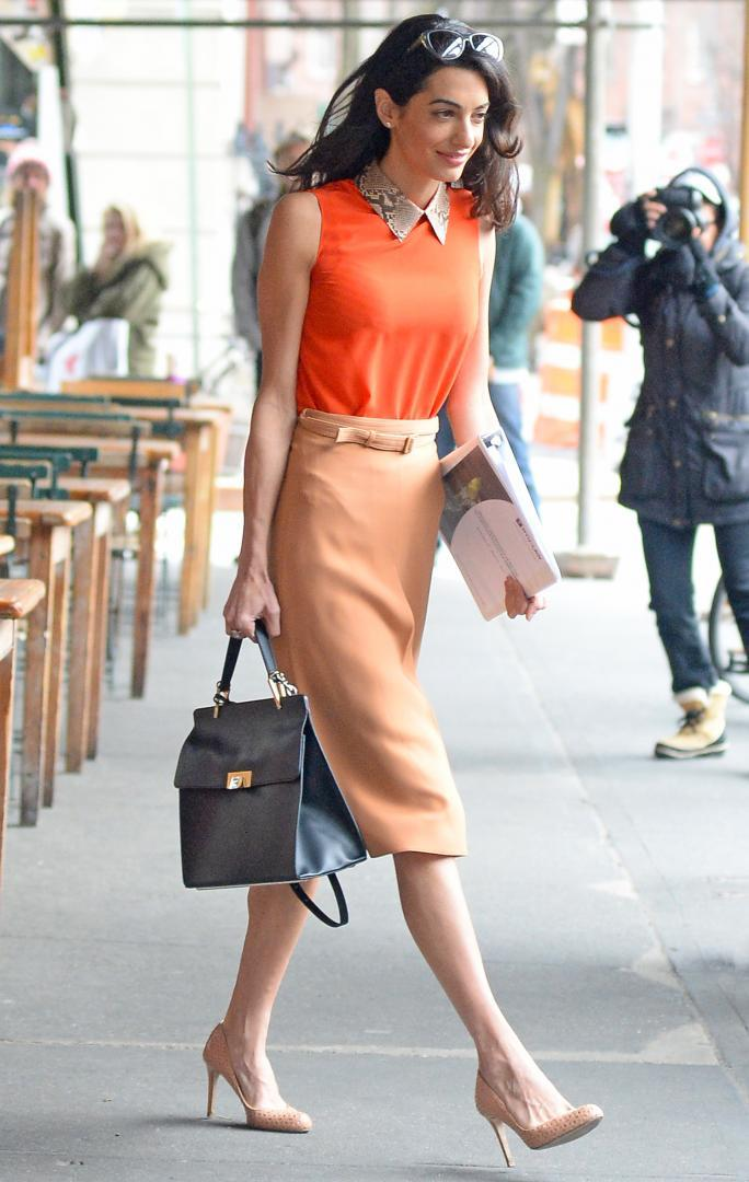 INF - Amal Clooney Steps Out For Lunch in New York City
