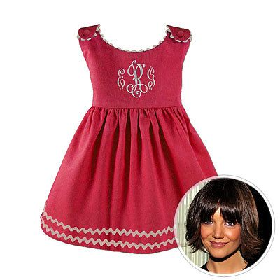 נסיכה Linens, Katie Holmes, rickrack dress, Suri Cruise