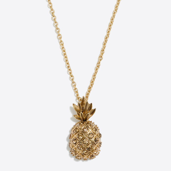 J. Crew Pineapple Pendant Necklace