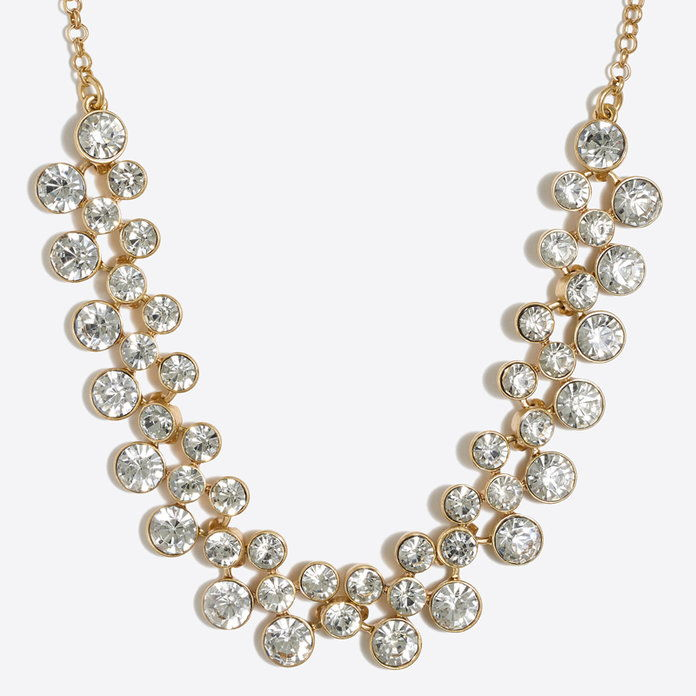J. Crew Crystal Bubbles Necklace