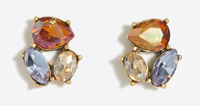 J. crew Crystal Trio Earrings