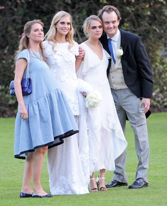 קארה Delevingne at her sister Poppy's wedding