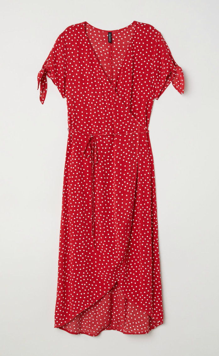ポルカ DOT WRAP-FRONT DRESS
