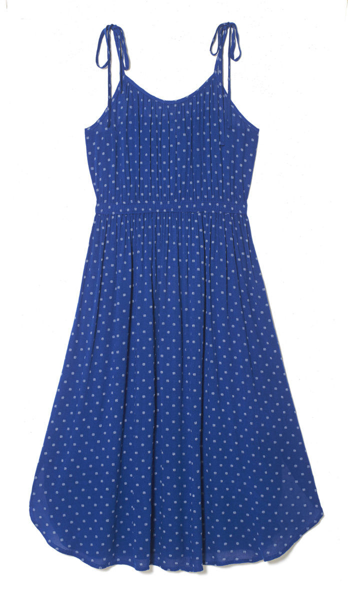 IKAT DOT TIE STRAP DRESS