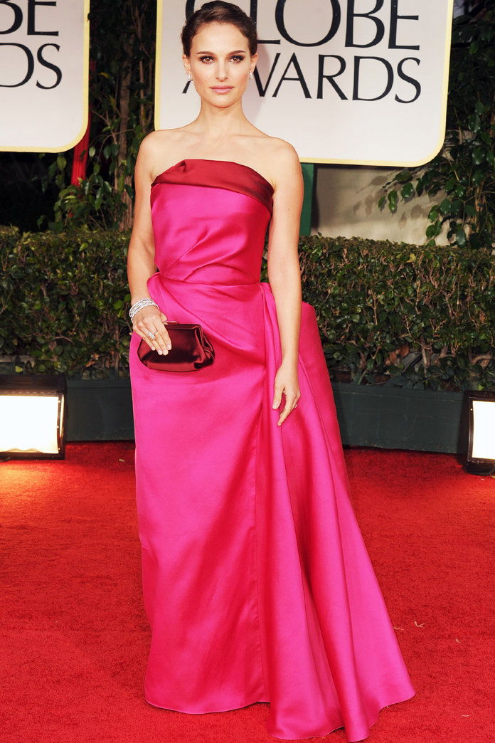ב Lanvin at the Golden Globe Awards in L.A. (2012)
