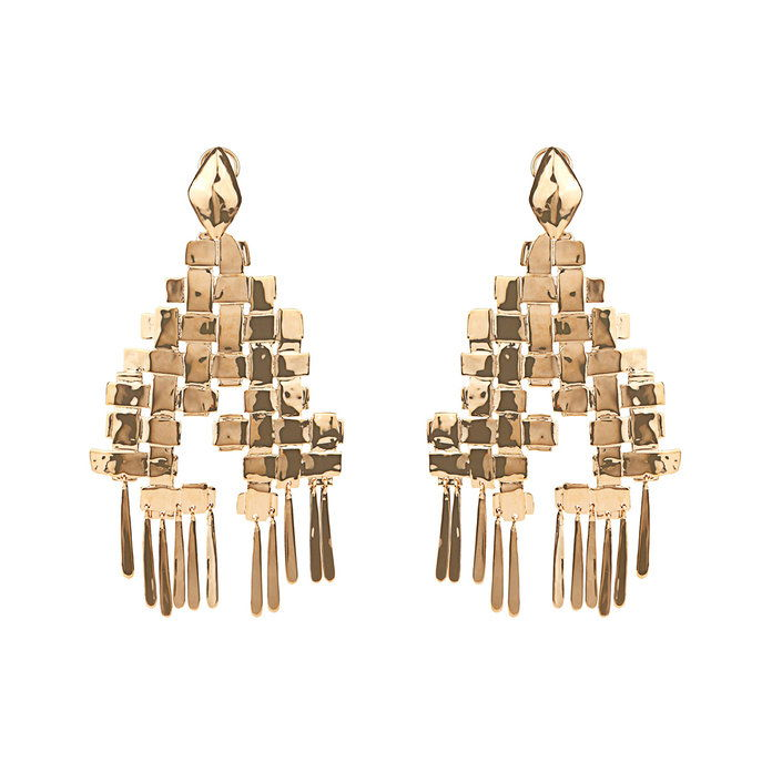 מתנדנד yellow-gold plated earrings