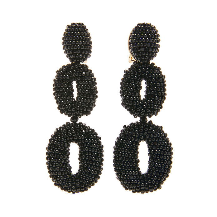 חרוזים Double Oval P Earring