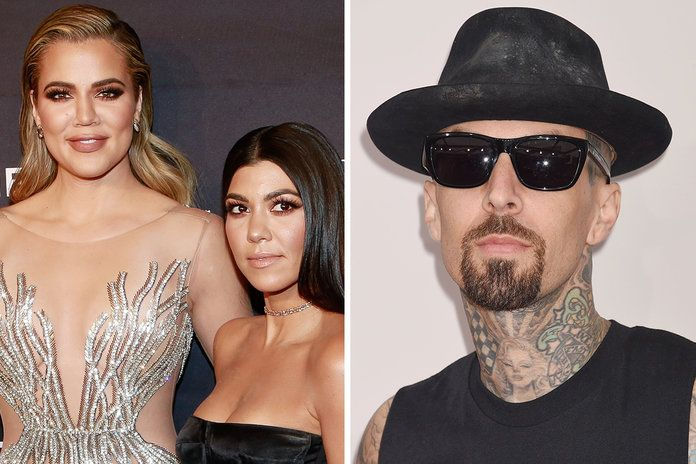 חלואה Kardashian, Kourtney Kardashian, and Travis Barker