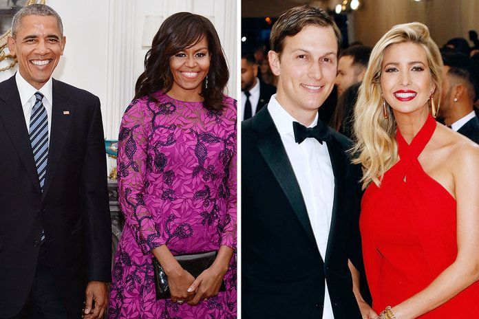 ברק Obama, Michelle Obama, Ivanka Trump, and Jared Kushner