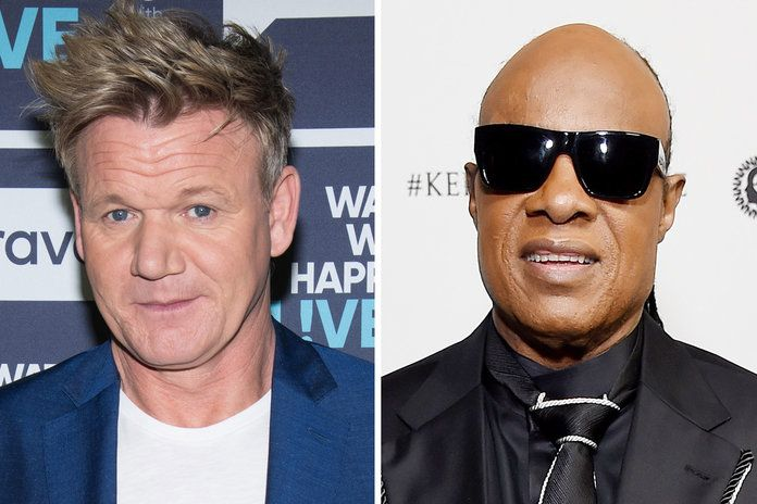 גורדון Ramsay and Stevie Wonder