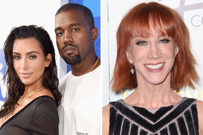 קים Kardashian West, Kanye West, and Kathy Griffin