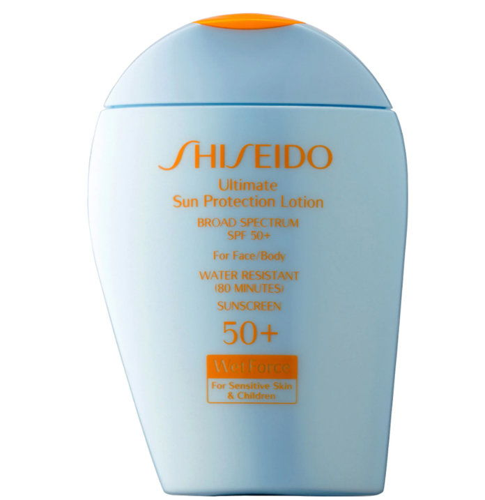 資生堂 Ultimate Sun Protection Lotion Broad Spectrum SPF 50+ WetForce for Sensitive Skin & Children