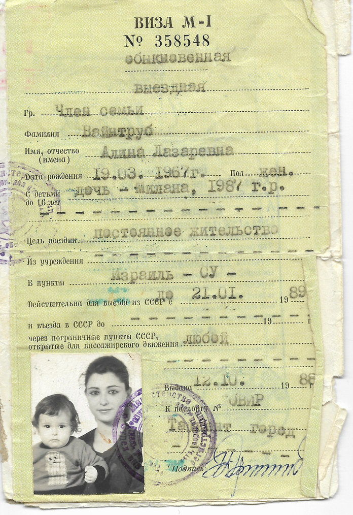 ミラナ Vayntrub's Mother's Passport Photo 1989 - Embed