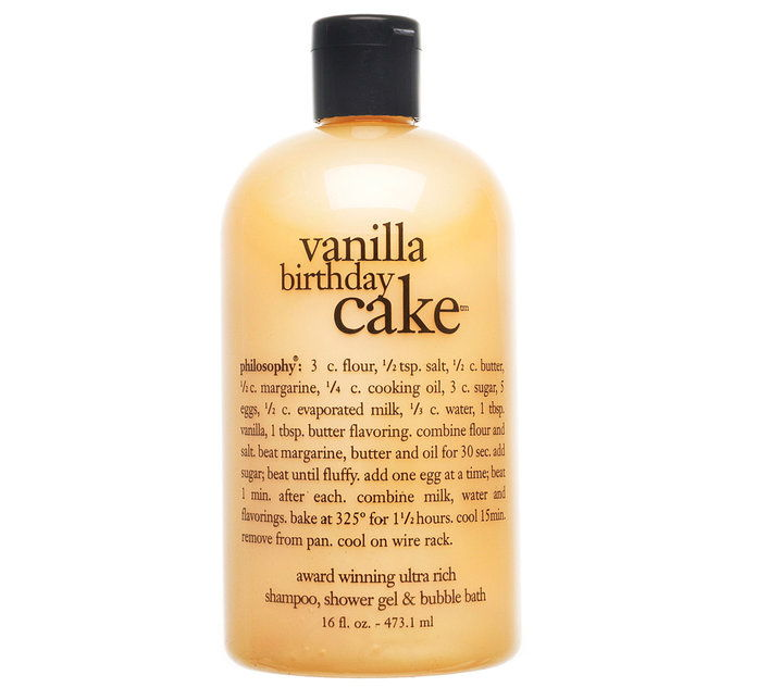 철학 Vanilla Birthday Cake Shampoo, Shower Gel & Bubble Bath