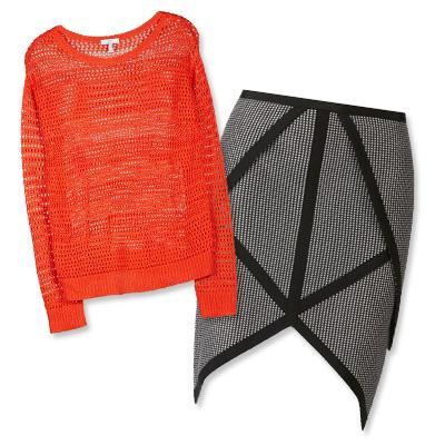 דואי sweater and Sass & Bide skirt
