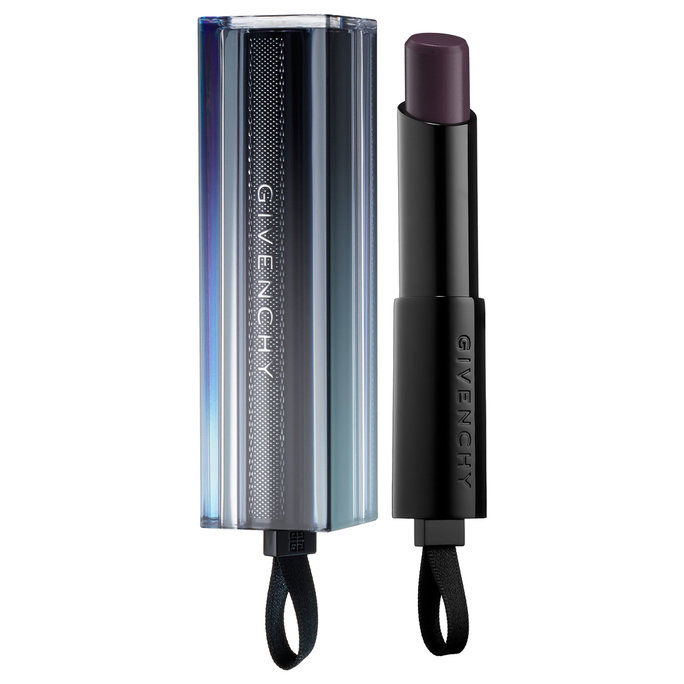 ג'יבנשי Rouge Interdit Vinyl Color Enhancing Lipstick In Noir