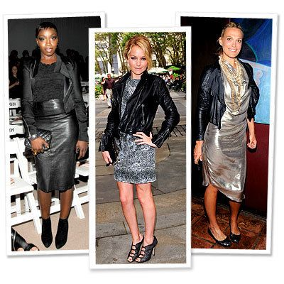 Estelle - Becki Newton - Molly Sims - Leather - Star Trends - New York Fashion Week - Spring 2010