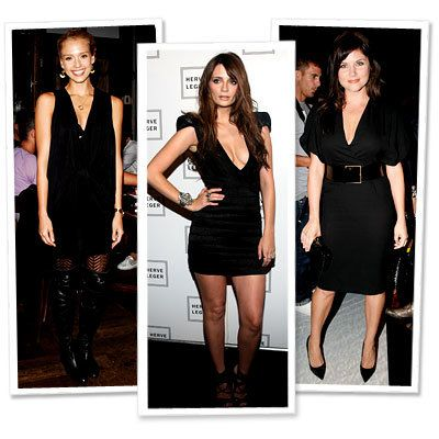 ジェシカ Alba - Mischa Barton - Herve Leger - Tiffani Thiessen - Ports 1961 - Plunging V-Necks - Star Trends - New York Fashion Week - Spring 2010
