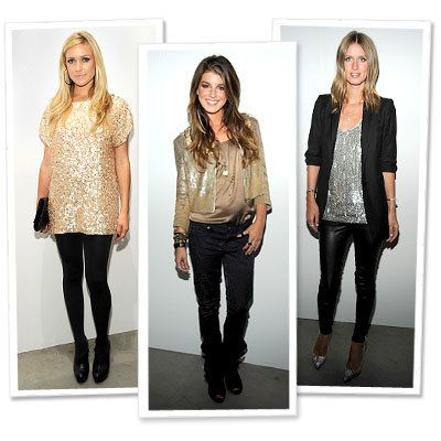 クリスティン Cavallari - Alice + Olivia - Shenae Grimes - Matthew Williamson - Nicky Hilton - Sequins - Star Trends - New York Fashion Week - Spring 2010