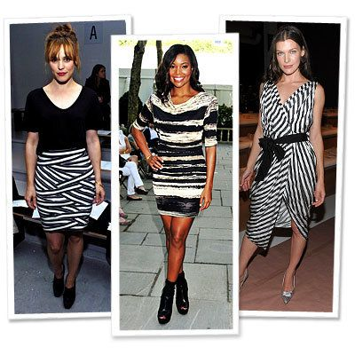 レイチェル McAdams - Gabrielle Union - Milla Jovovich - Stripes - Star Trends - New York Fashion Week - Spring 2010