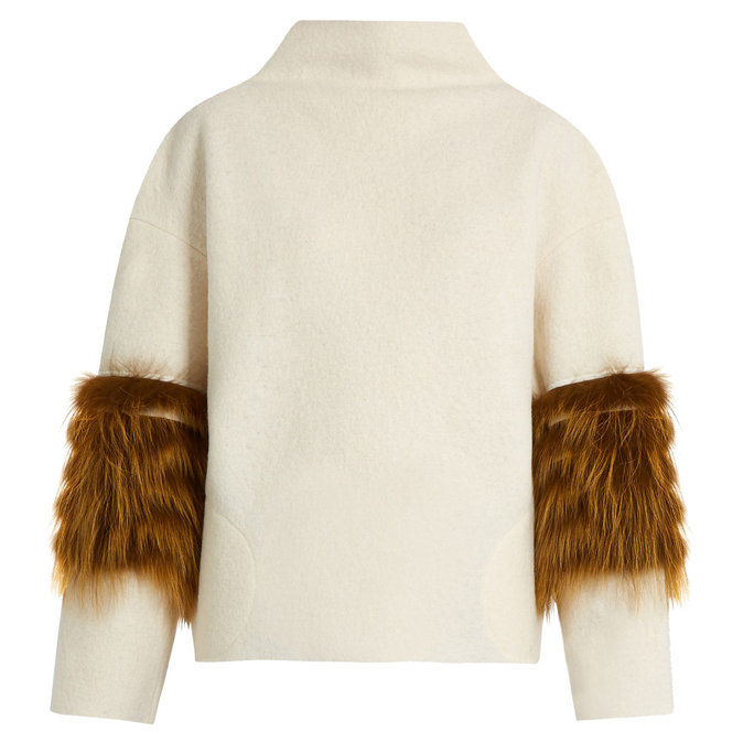 א Fur-Paneled Sweater