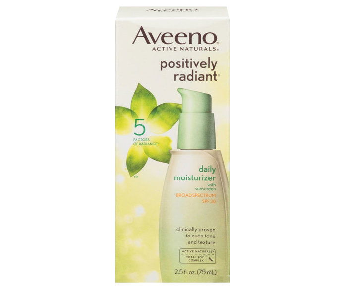 이른 20s: Aveeno Positivily Radiant Daily Facial Moisturizer With SPF 50