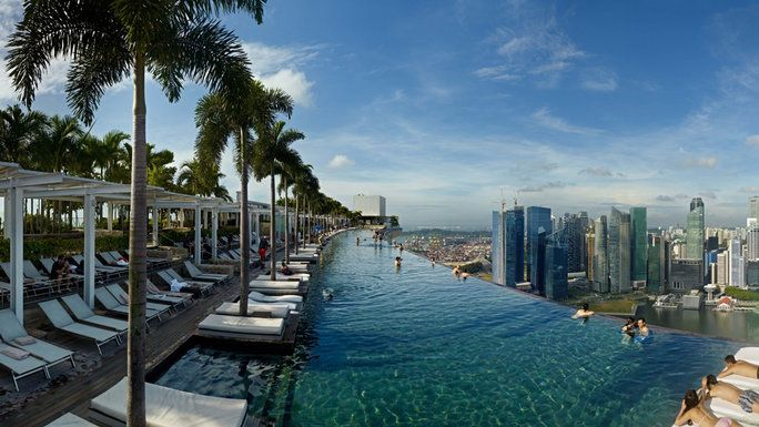 最も Epic Pools In The World 1 Infinity pool in Singapore at Marina Bay Sands resort