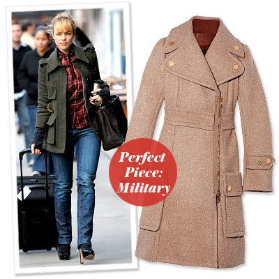 レイチェル McAdams - Find Your Most Flattering Coat - Narrow Shoulders
