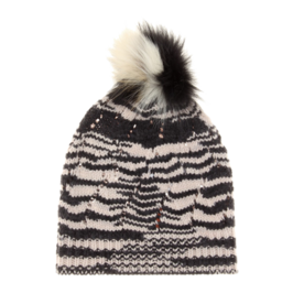 סרוגה wool blend beanie with fur