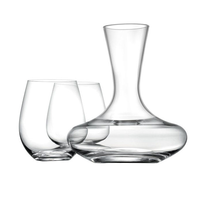 ויליאמס Sonoma Reserve Stemless Wine Glasses and Decanter Gift Set
