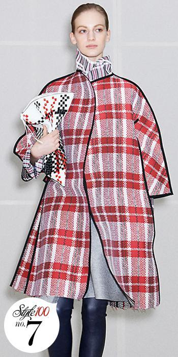 セリーヌ Plaid Coat - Style 100