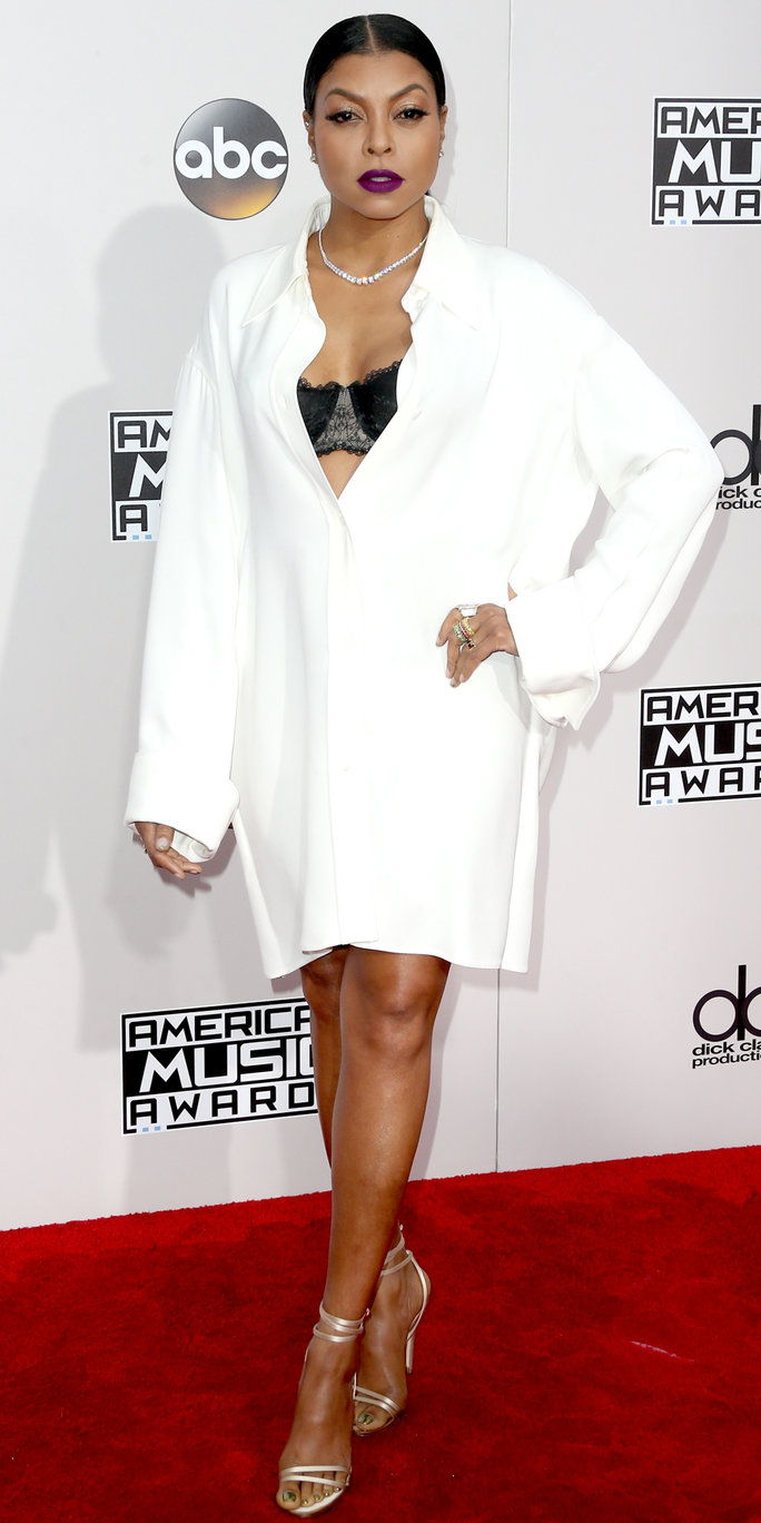 שחקנית Taraji P. Henson attends the 2016 American Music Awards at Microsoft Theater on November 20, 2016 in Los Angeles, California.