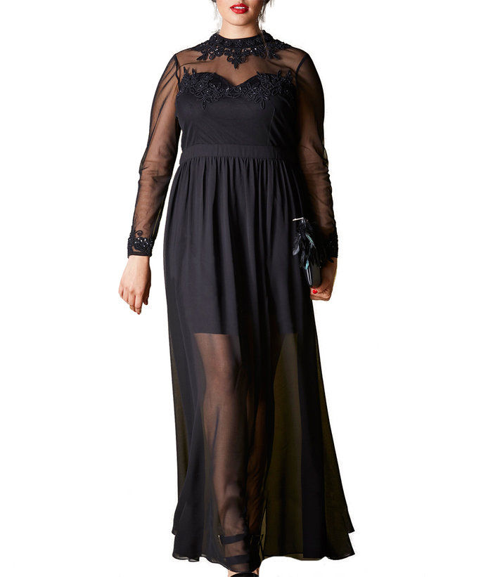 בפשטות Be's Sheer Hem Maxi