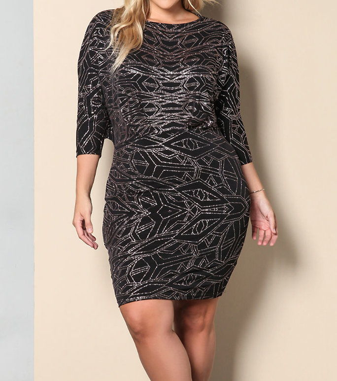 DebShop של Sparkle Cut Out Bodycon
