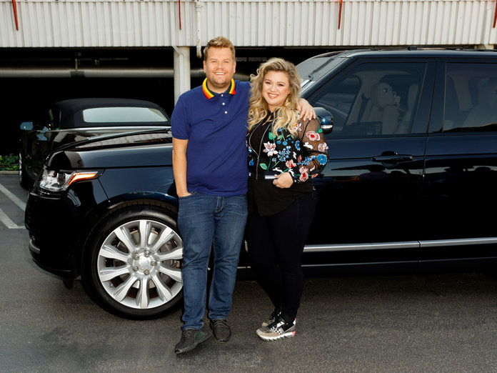 ジェームス Corden and Kelly Clarkson