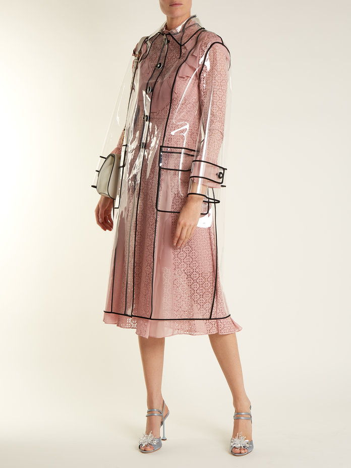 MIU MIU Single-breasted raincoat