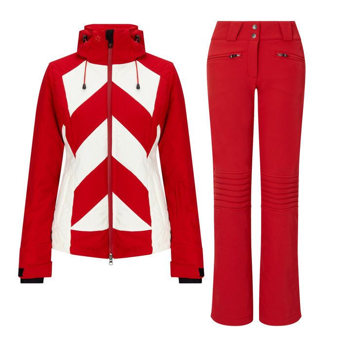 완전한 Moment Red Ski Jacket and Pants