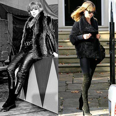 마리안 Faithfull, Kate Moss, Rocker Chick Chic, celebrity style