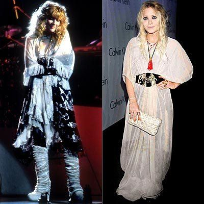 스티비 Nicks, Mary-Kate Olsen, Rock Chick Chic, celebrity style, Nylon