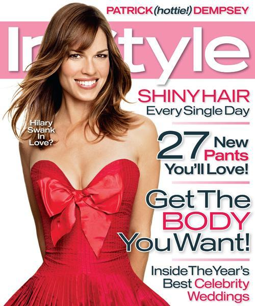 InStyle Covers - February 2007, Hilary Swank