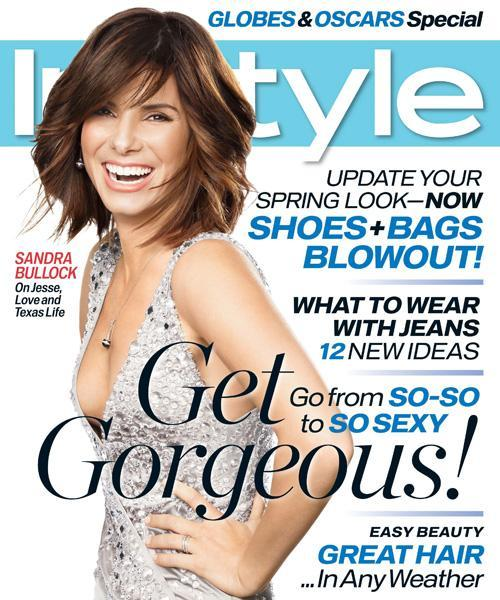 InStyle Covers - March 2007, Sandra Bullock