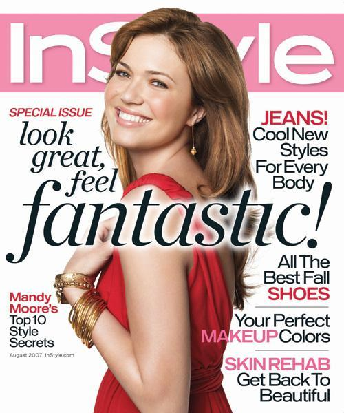 InStyle Covers - August 2007, Mandy Moore